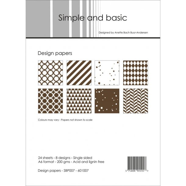 Simple and Basic Design Papers A6 - SBP007
