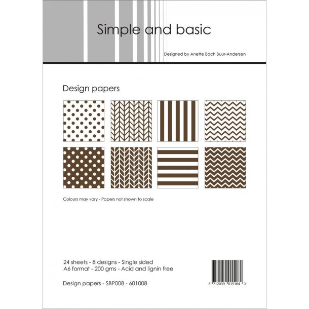 Simple and Basic Design Papers A6 - SBP008