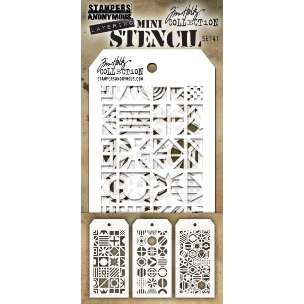 Tim Holtz Mini Stencil SET #41 TH-MST041
