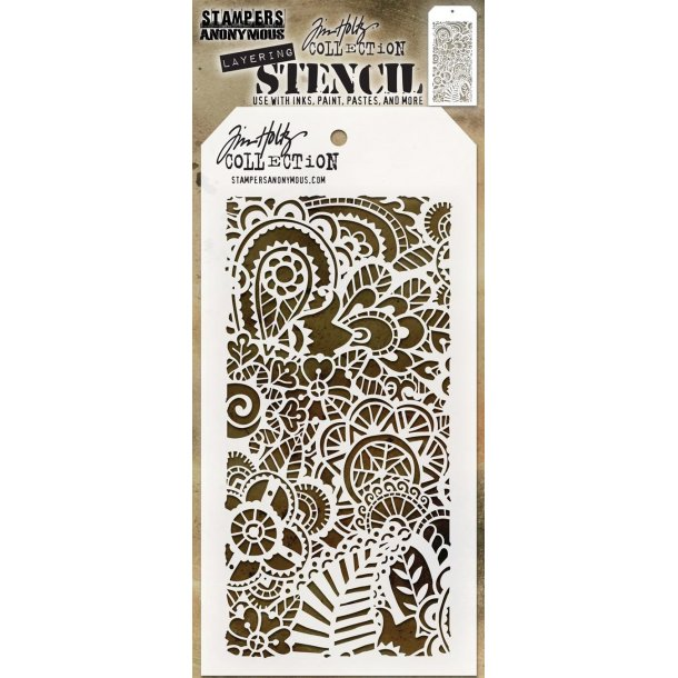 "Tim Holtz Layered Stencil ""Doodle Art 2"" TH-S142"