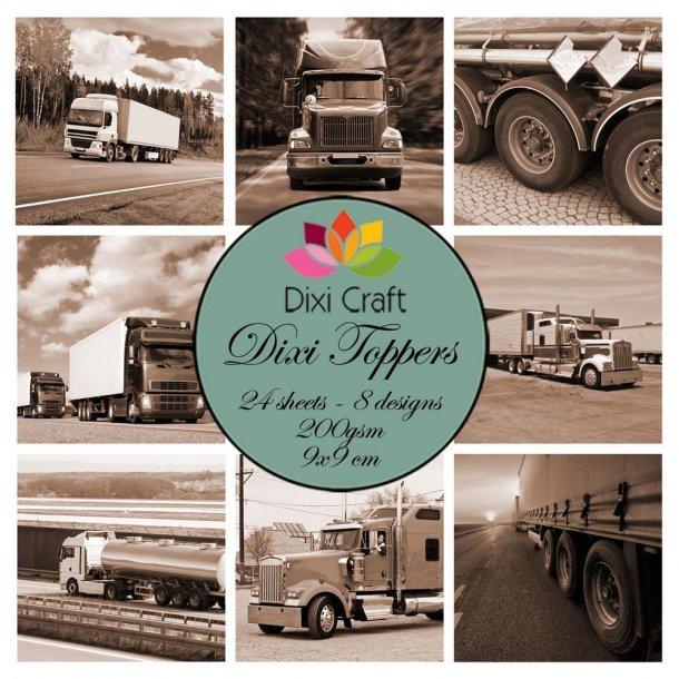 Dixi Craft Toppers 9x9cm 24 ark ET0334