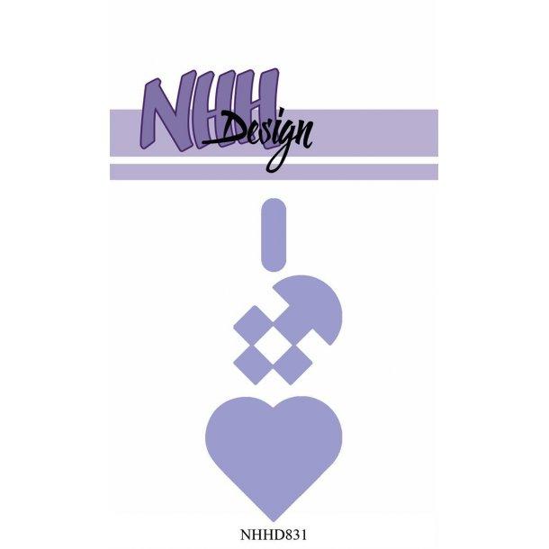 NHH Design Dies - NHHD831 - Stor Julehjerte