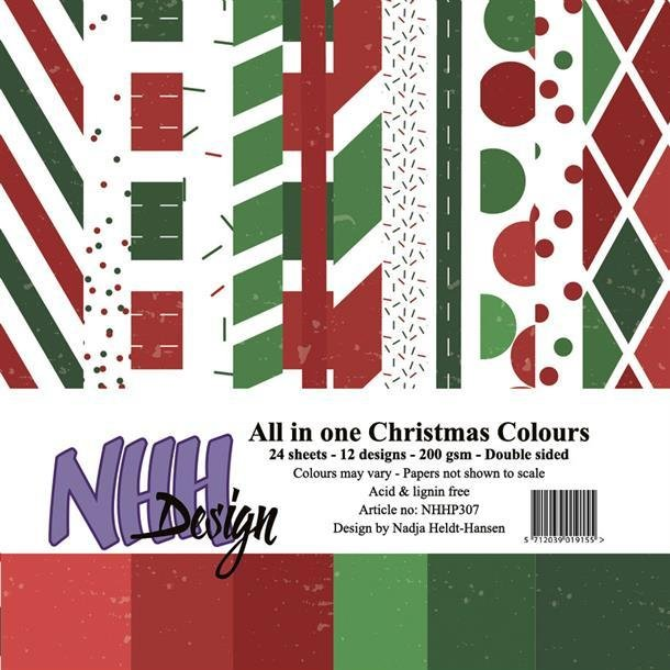 NHH Paperpad 15x15cm All in one - NHHP307 - Christmas Colours