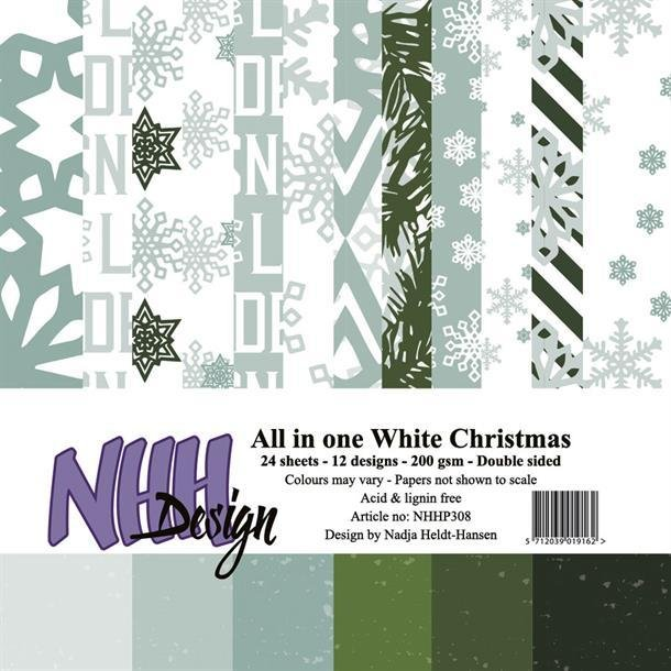 NHH Paperpad 15x15cm All in one - NHHP308 - White Christmas