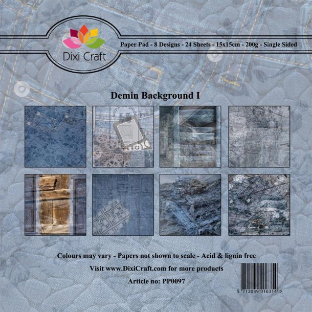 Dixi Craft Papirsblok 15x15cm PP0097