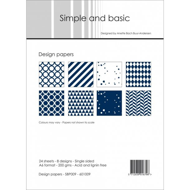 Simple and Basic Design Papers A6 - SBP009