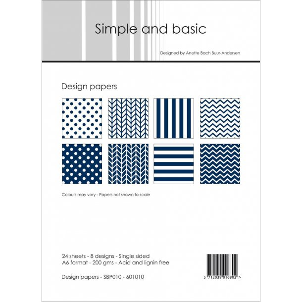 Simple and Basic Design Papers A6 - SBP010