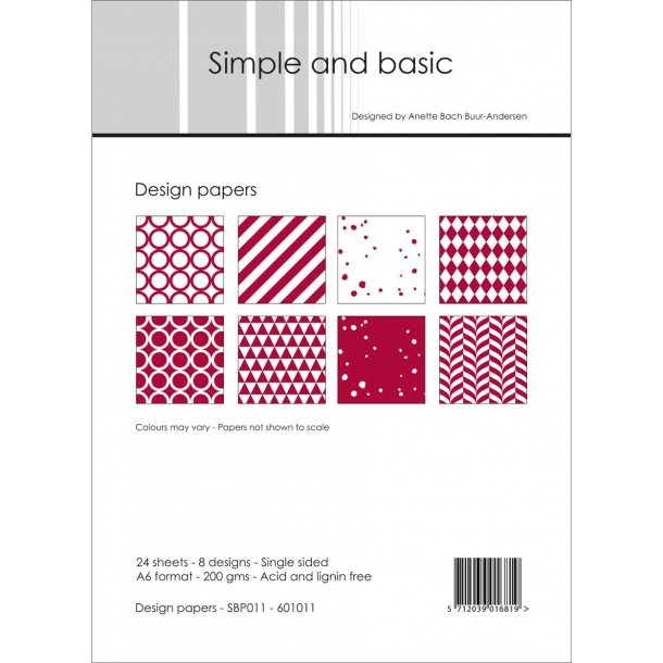 Simple and Basic Design Papers A6 - SBP011