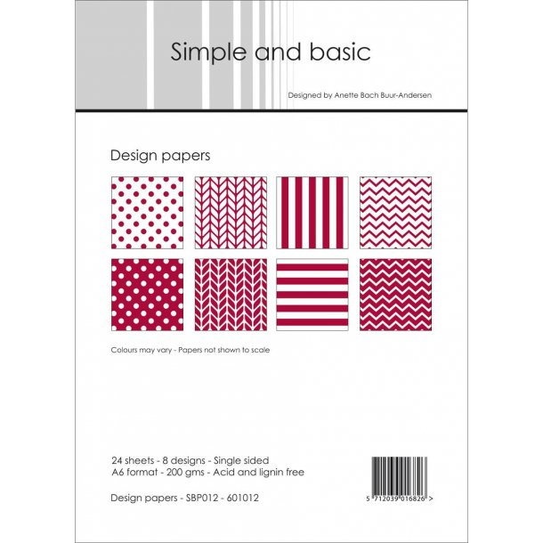 Simple and Basic Design Papers A6 - SBP012